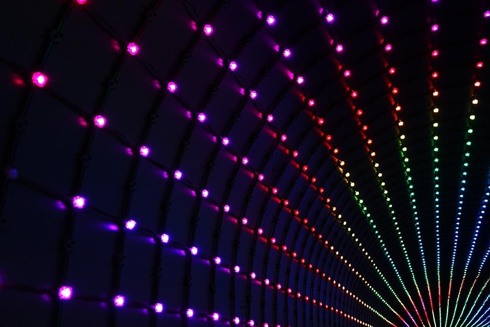 farebné svetlá, pruhy