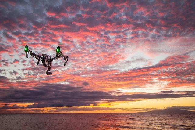 dron pod rudýn nebem
