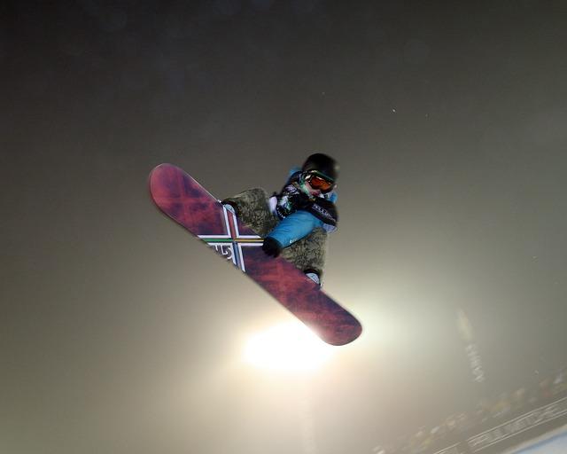 skok na sowboardu