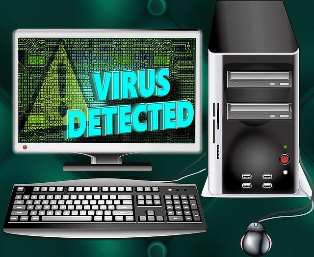 hledání viru