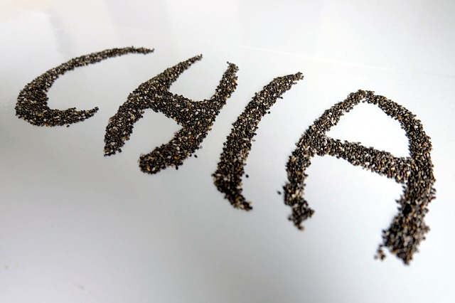 nápis z chia semínek